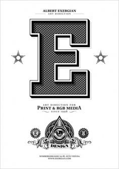 http://www.exergian.com/ #type #letter #poster #capital