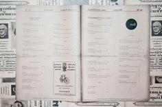 Very clean & simple typography, newspapery feel #menu