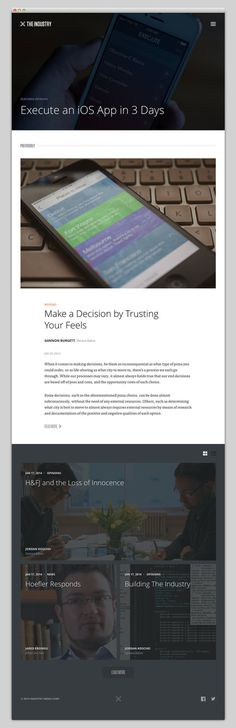 The Industry #website #layout #design #web