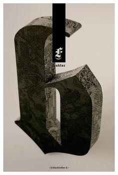 Design You Trust – Design and Beyond! #poster #blackletter #tom davie #typeblock