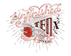"""Tattoo for TEDxMadrid """"The Unfinished"""" on Behance #red #ted #madrid #unifinished #tedx #type #typography"""