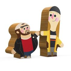 Andrew Kolb Immortalizes Pop Culture Duos With Wooden Figures [Art] - ComicsAlliance | Comic book culture, news, humor, commentary, and revi #silent #bob #wood #illustration #figurine #koklb #jay #andrew