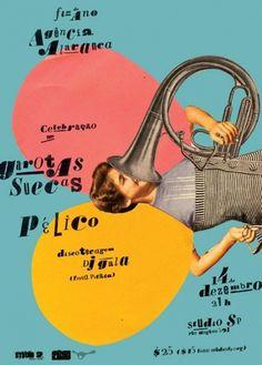 GigPosters.com - Garotas Suecas - Pélico #poster #typography