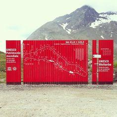 trenino del bernina #segnaletica #infografica #wayfinding #grafica #svizzera