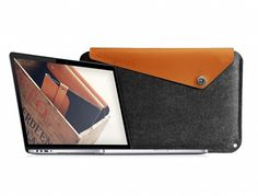 Gorgeous Sleeve For The New MacBook Pro With Retina Display Is Made With Wool Felt And Quality Leather   Cult of Mac #macbook #sleeve #15 #pro #retina #mujjo