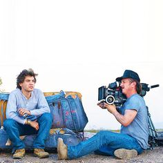 Emile Hirsch and Sean Penn filming for Into the Wild (2007)n #wild #actor #penn #director #into #sean #the #hirsch #photography #emile