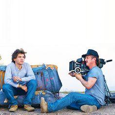 Emile Hirsch and Sean Penn filming forInto the Wild(2007)n #wild #actor #penn #director #into #sean #the #hirsch #photography #emile