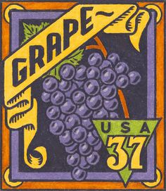Michael Doret - 12 Years in the Making: Fruit & Vegetable Stamps for the USPS #usps #grape #usa #stamp #post #postage #mail #stick #label
