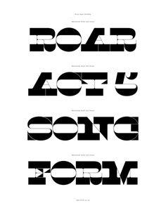 Maelstrom Typeface | Australian Design Biennale #tt