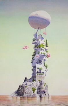 Tristram Lansdowne - Naïmoka #art #watercolour #design