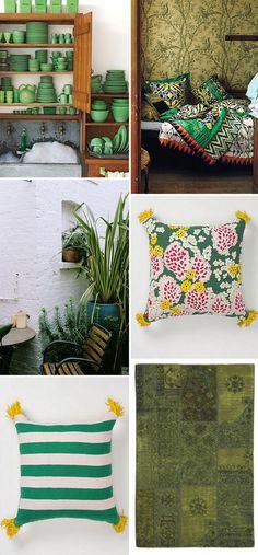 green with envy #interior design #decoration #decor #deco