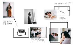 Brand identity, art direction sheet. Zoë — Brittany Byrne