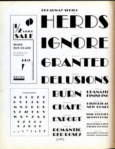 Broadway type specimen #typography #type #type specimen