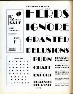 Broadway type specimen