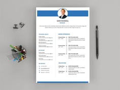 Free Modern Word Resume Template with Clean Design Layout
