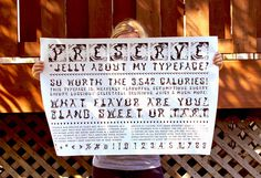Preserve Typeface Poster #type #design #graphic #jelly