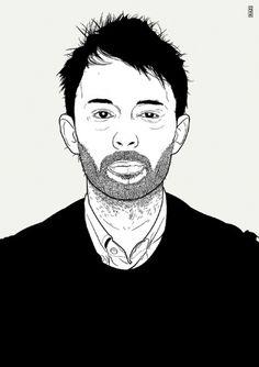 Raziman Baharudin #radiohead #vector #razi #thomyorke #blackandwhite #atomsforpeace