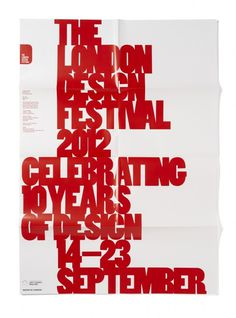 London Design Festival Press Invite #posters #typography