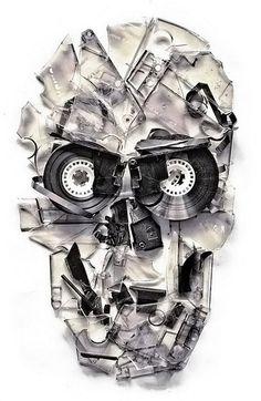 nevver:Ali Gulec #skull #cassette