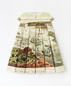 She is Elisabeth Lecourt. #fashion #paper #graphic #map