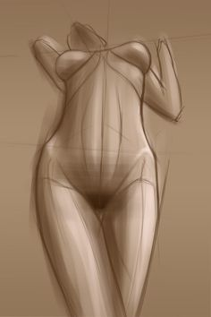 ariel b sketch #illustration #sketch #life drawing #woman #girl #standing #pose #nude #proportion #art