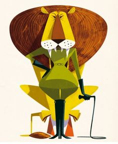 Jonas Bergstrand #inspiration #lion #circus #illustration #character #green