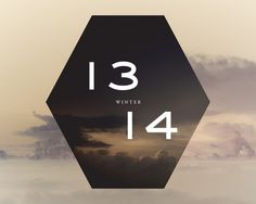 » Another (After) Winter Playlist #typography #numbers #hexagon #cloud