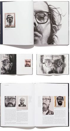 Interesting book layout || Chuck Close #layout