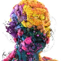 XGen Portraits on Behance #face #distort #3d #flowers #floral #awesome