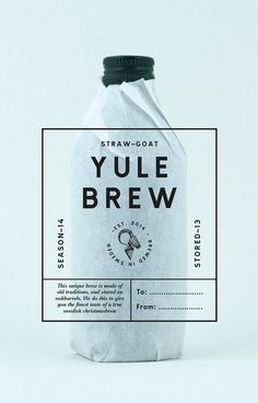STRAW-GOAT YULEBREW #packaging #beer #brew #label