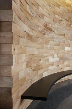 Salvaged wood feature wall by Meyer Wells by SpicySugar #wood #raw #reclaimed