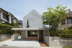 Floating Terrace House by Tomohiro Hata Architect and Associates