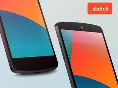 Nexus 5 Sketch template #template #dribbble #sketch