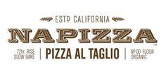 Napizza Pizza al Taglio Logo #logo #restaurant #branding #typography