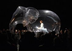 performance art meets inflated sculptures by victorine müller #elephant