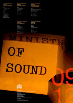 Ministry of Sound Poster www.markcollinsdesign.com #design #graphic #poster #typography