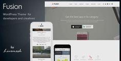 Fusion - Mobile App Landing Page WordPress Theme