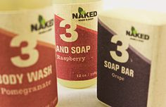 Naked Soap - Sustainable Packaging Design #packaging #design #graphic #3d