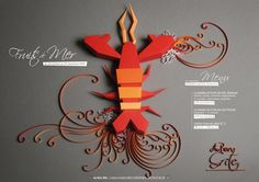 Lobster for Dinner on the Behance Network #layout #sculpture #paper