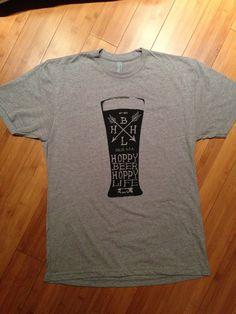 Pint Design Hoppy Beer Hoppy Life Heather by HoppyBeerHoppyLife #shirt