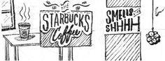 Smelly #starbucks #ink #retro #freehand #illustration #vintage #poster #coffee #manila #renielguiao