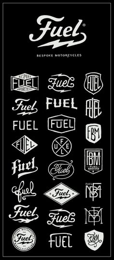Fuel Logo exploration #fuel #design #bmd #logo #motorcycle