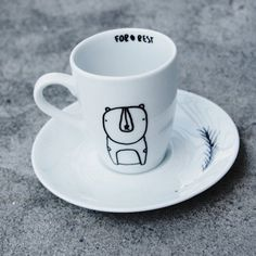 filiżanka espresso misio Dom DecoBazaar #espresso #glass #coffee #bear #forest