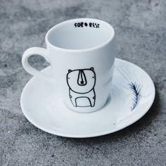 filiżanka espresso misio Dom DecoBazaar #espresso #glass #coffee #bear #forest