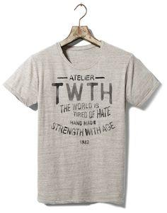 TWTH Atelier on Behance #old #tshirt #retro #illustration #type #typography