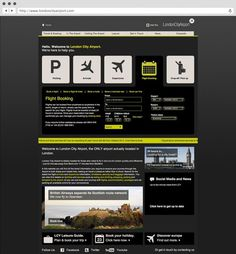 London City Airport. Website. #a #tree #in #london #design #fish #graphic #website #3 #identity #logo #brochure