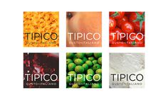 Tipico. Italian Food on Behance #branding #pasta #design #graphic #food #restaurant #olive #tomato #corporate #logo #taste #italy #oil