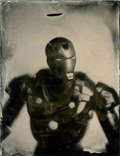 Collodion Iron Man   HOW TO BE A RETRONAUT #old #retro #iron #photography #vintage #man