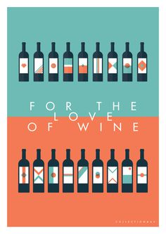 FOR THE LOVE OF WINE Posters on Behance #animation #vector #animated #branding #icon #illustrator #icons #wine #clean #illustration #posters #gif