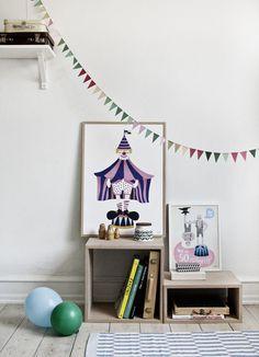 #nordic #design #graphic #illustration #danish#simple #nordicliving #living #interior #kids #room #poster #clown #circus #fun #purple